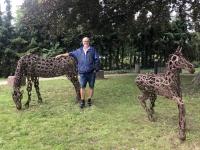 2020 07 16 Röbel Skulpturenpark hinter der Tourist Info