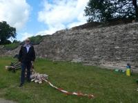 Deutschland Archäologischer Grenzkomplex Haithabu und Danewerk Ziegelsteinmauer