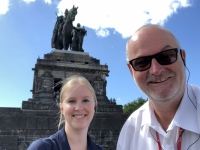2020 08 22 Koblenz Deutsches Eck mit Kaiser Wilhelm Denkmal
