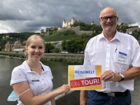 2020 08 24 Würzburg Marienberg Blick von alter Mainbrücke Reisewelt on Tour