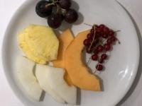 Dessert Frische Früchte Teller