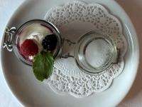 Dessert Rote Waldbeeren Grütze
