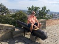2020 08 30 Brünn Burg Spielberg Kanone auf Brünn