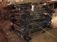 2020 08 31 Blei Silber Zink Mine Tarnowskie Gory  Tunnelstützen