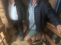 2020 09 03 Wieliczka Salzbergwerk 380 Holzstufen gehts hinunter