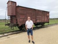 2020 09 04 Birkenau Vernichtungslager Waggon für Anlieferung