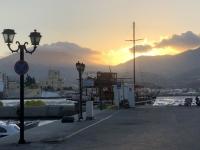 2020 09 08 Pigadia Sonnenuntergang im Hafen