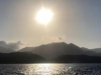 2020 09 09 Bootsfahrt nach Saria mit Sonnenuntergang im Hafen