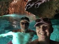 2020 09 09 Insel Saria Badebucht Palatia Selfie mit Kraftanstrengung