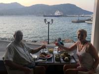 2020 09 09 Pigadia Abendessen mit herrlichem Hafenblick