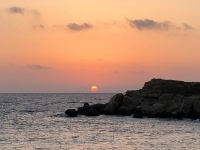 2020 09 11 Lefkos Sonnenuntergang während dem Abendessen