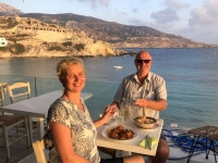2020 09 11 Lefkos perfektes Abendessen am Strand