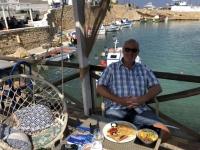 2020 09 12 Insel Kasos Frühstück im alten Fischerhafen Bouka