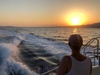 2020 09 12 Wunderschöner Sonnenuntergang vor Karpathos