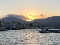 2020 09 14 Pigadia Hafenpromenade Sonnenuntergang