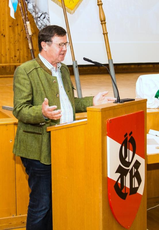 Grussworte von Kallhams Bürgermeister Fritz Pauzenberger