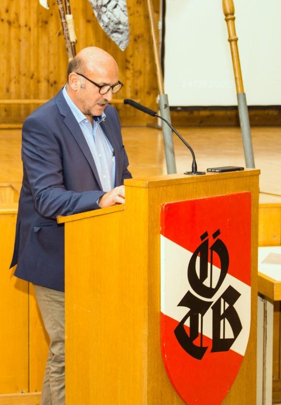 Laudatio über Obmann Gerald Stutz von Manfred Schöberl