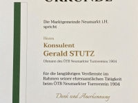 Johann Leeb Ehrenurkunde