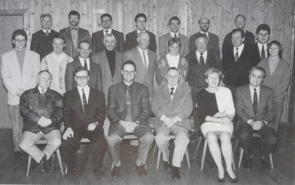 1994 04 08 Erster Turnrat unter Obmann Gerald Stutz schwarz weiss