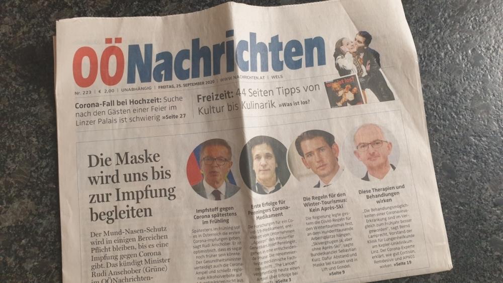 Inhalt Zeitkapsel Tageszeitung vom 25 September 2020 Tag der Hauptversammlung