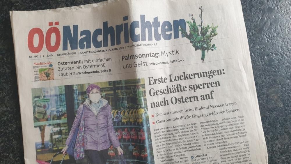 Inhalt Zeitkapsel Tageszeitung vom 4 April 2020 Tag der ursprünglich geplanten Hauptversammlung verschoben wegen der Corona Pandemie auf 25 September