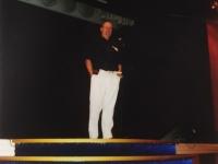 2008 04 23 Konzert Kreuzfahrt auf der MSC Orchestra Gerald Stutz nach dem Konzert auf der Bühne