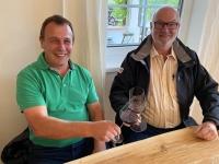2020 09 29 Weingut Wachter Deutsch Schützen Treffen mit Judo Kollege von Helmut Anton Kriespler