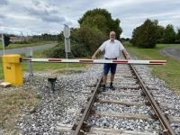 2020 09 30 Bahnschranke für Draisine