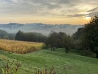 2020 10 02 Unterkunft Jennersdorf Nebelfelder vor dem Frühstück