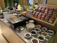 Stadthotel perfektes Frühstücksbuffet
