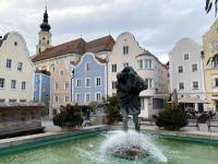 Christophorusbrunnen am oberen Stadtplatz