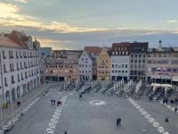 2020 10 12 Augsburg Rathaus Blick vom goldenen Saal