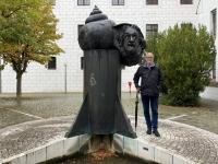 2020 10 12 Ulm Einsteinbrunnen Albert Einstein hier 1879 geboren