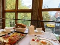 2020 10 12 Ulm Frühstück mit Blick auf das Münster