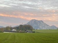 Blick vom Gmunderberg auf den Traunstein