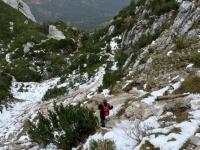 Ein bischen Schnee liegt auf 1.500 Meter