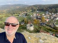 2020 10 23 Waxenberg Burgruine Blick auf den Ort vom Bergfried