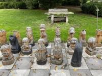2020 10 25 Brunn am Wald Karikaturengarten berühmte Schachfiguren