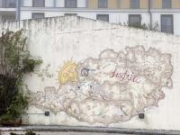 Club Aldiana in Ampflwang Betonmauer