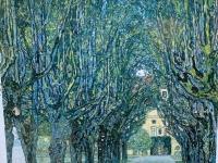 Allee zum Schloss Kammer als berühmtes Bild von Klimt 1912