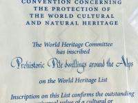 Unesco Urkunde für die Pfahlbauten