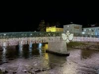 Beleuchtete Elisabethbrücke