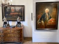 Barockzimmer mit Porträt Kaiser Josef II