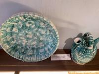 Grün geflammtes Keramik aus dem Jahre 1860
