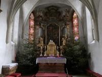 St Ulrichskirche weihnachtlicher Altar