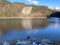 Wasserentnahme am Schwarzensee