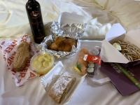 Abendessen im Hotelzimmer