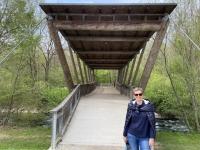 Nachbarschaftsbrücke über die Ager