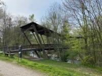 Nachbarschaftsbrücke Regau Vöcklabruck über die Ager