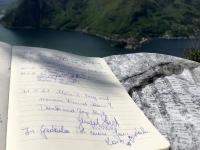 Eintrag Gipfelbuch ergänzt von Alois